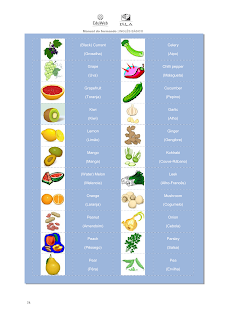 fruit vegetable ingles