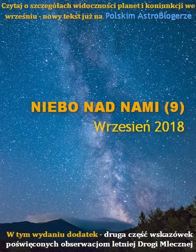 NIEBO NAD NAMI (9) Wrzesień 2018 - Letnia Droga Mleczna w pełnej krasie - Przejdź do tekstu