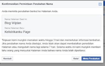 Cara Mengganti Nama Halaman Fage FB Terbaru 2018