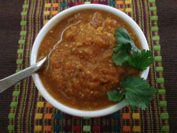 Vegan Butternut Squash Soup with Hemp Seeds from Welcoming Kitchen