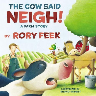 The Cow Said Neigh! Wonderfully illustrated and humorous and with rhythm, rhyme, and animal sounds, this book is sure to be a crowd pleaser! #thecowsaidneigh #childrenslit #book #picturebook #netgalley