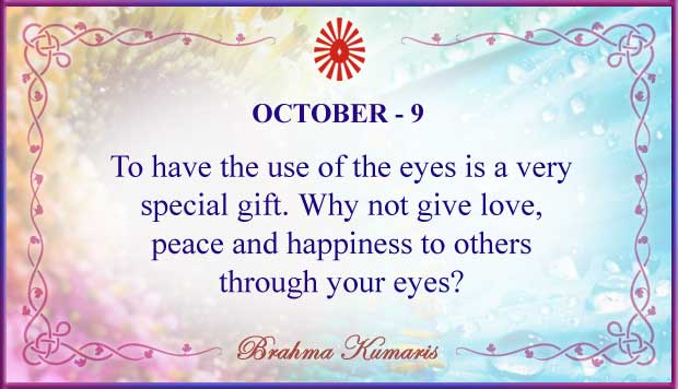 Thought For The Day October 9
