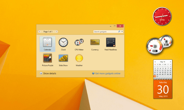 Add Gadgets For Windows 8/8.1/10 Free