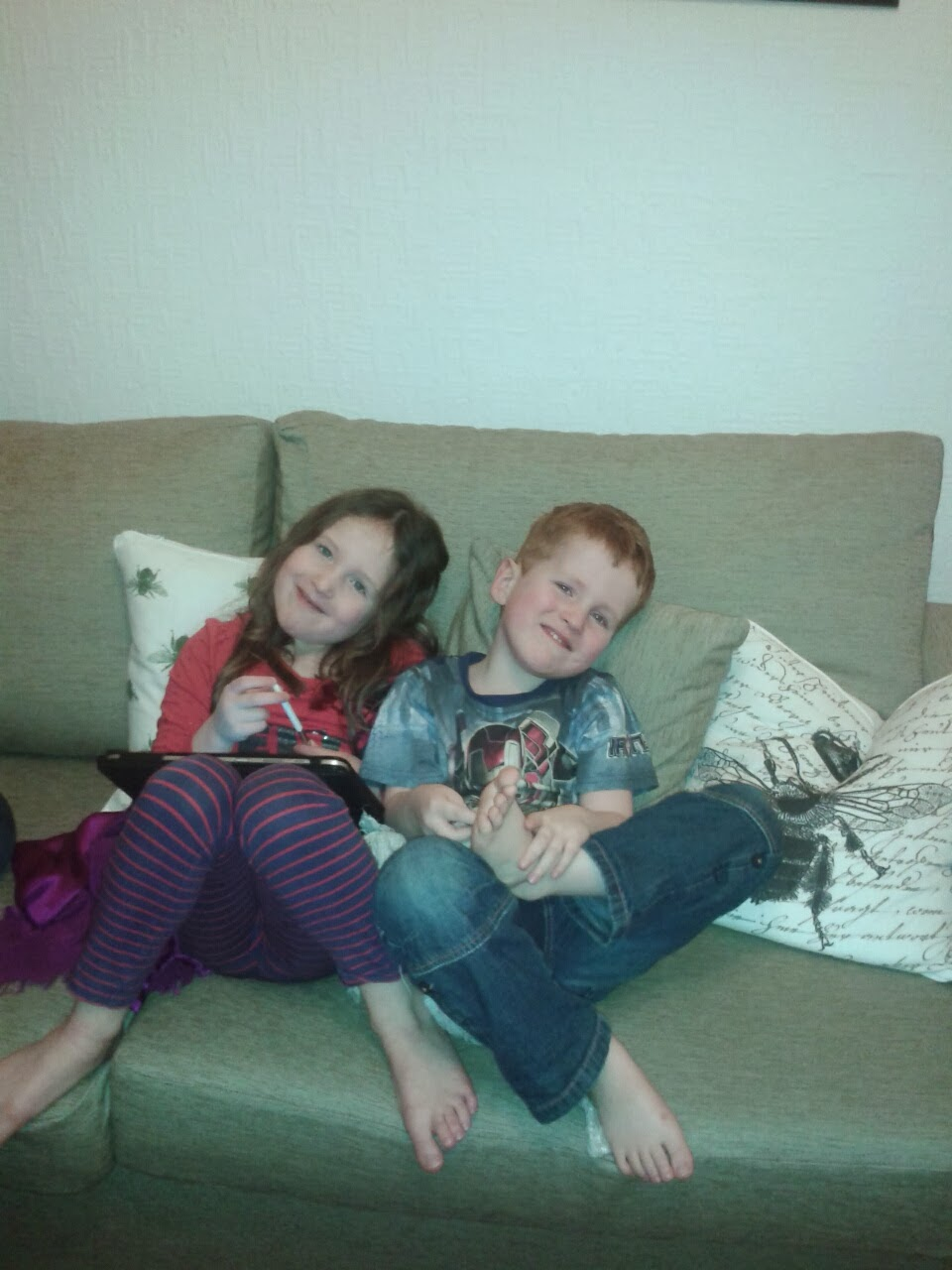 Caitlin & Ieuan on the sofa