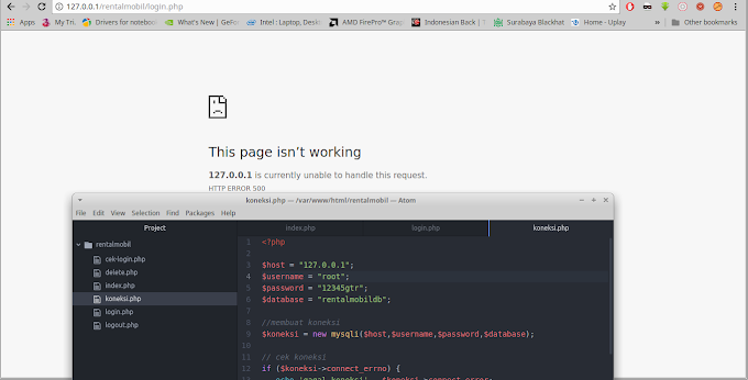 "Mengatasi PHP MySQL ke Webserver Apache ""This Page Not Working"" di GNU/Linux"