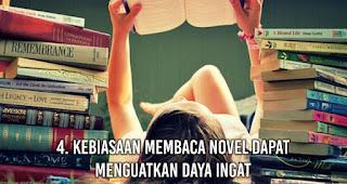 Kebiasaan Membaca novel Dapat Menguatkan Daya Ingat