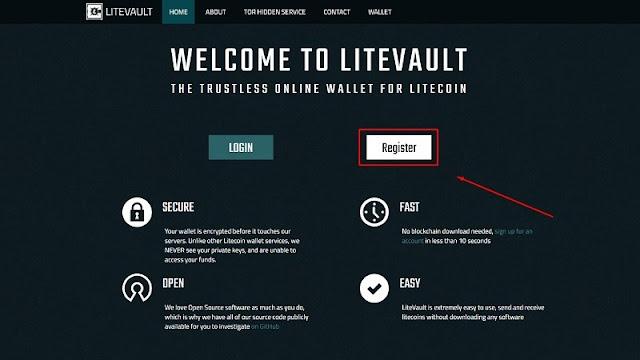 Cara Membuat Litecoin Wallet Mudah dan Gratis dengan situs LiteVault