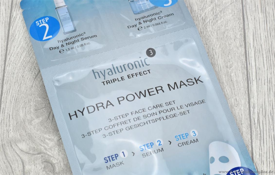 Unboxing und Inhalt Pink Box November 2017 'Me Time' - être belle Hyaluronic Hydra Power Maske - Vliesmaske, Serum und Cream