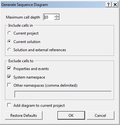 Visual Studio 2013 Generate Class Diagram 3b Laser Pranay Rana: Sequcen (visual Studio)