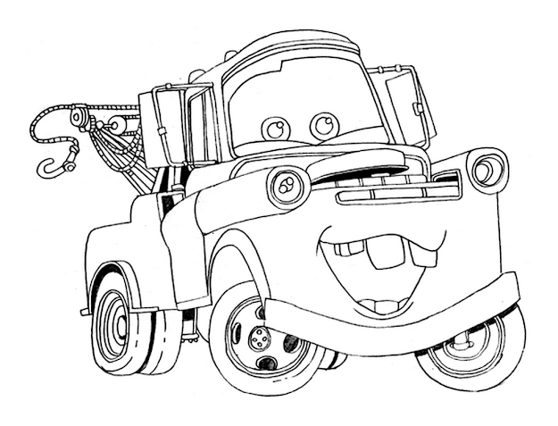 Mater Coloring Pages Free Design