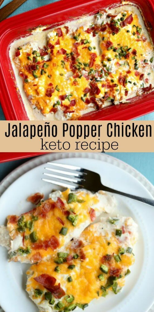 Keto Jalapeño popper chicken