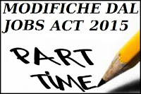 lavoro part-time, novità 2015 dal jobs act