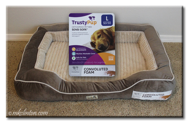 Beautiful TrustyPup dog bed with convoluted foam