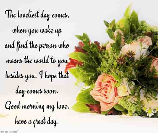 lovingyou good morning love letters with bouquet