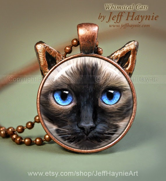 25-Siamese-Cat-Jewelry-Jeff-Haynie-Cats in Drawings-Paintings-and-Jewelry-www-designstack-co