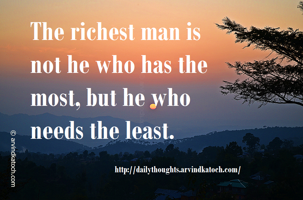 Daily Thought Picture Message On Richest Man Best Daily Thoughts With Meanings