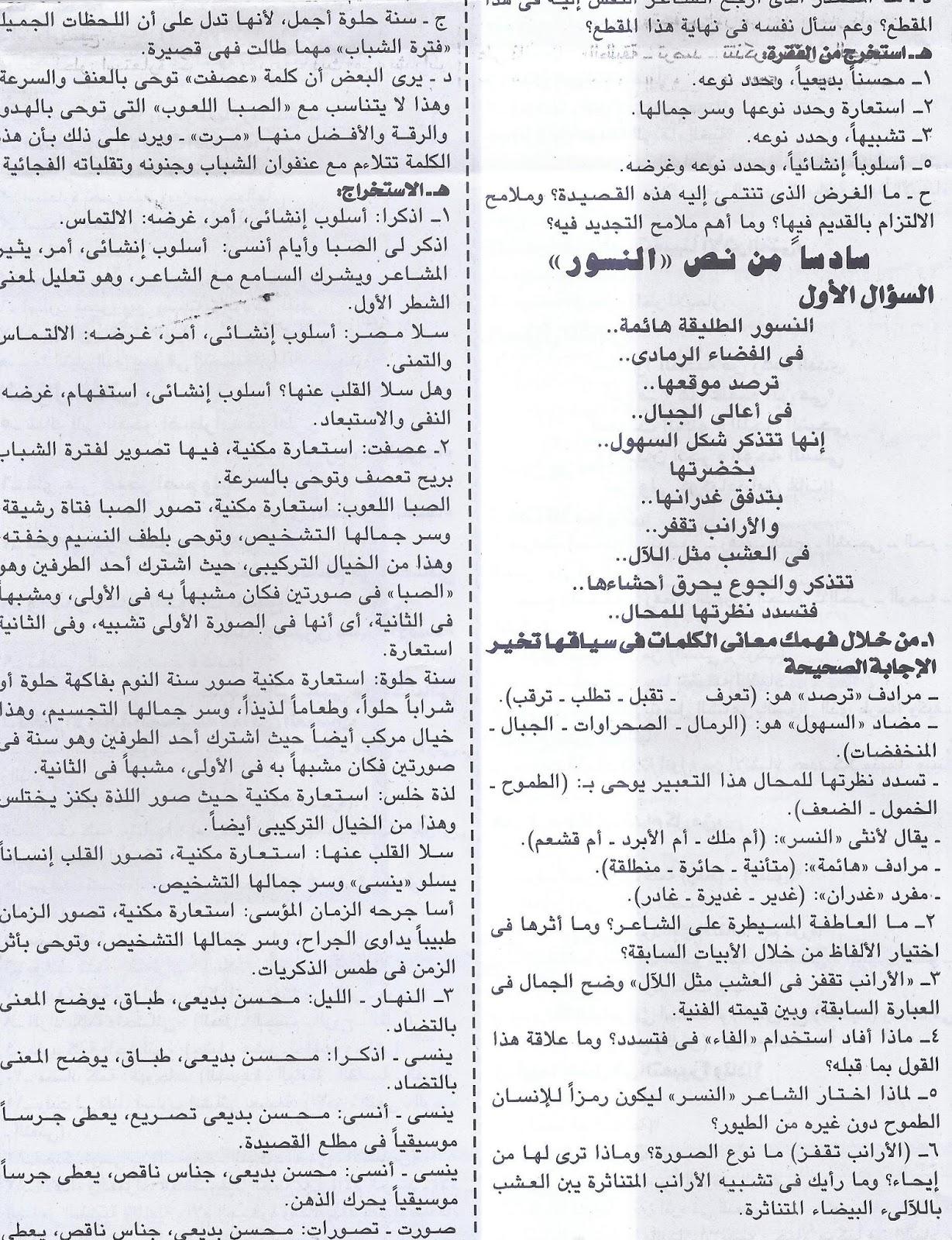 اهم توقعات النصوص للثانوية العامة.. ملحق الجمهورية التعليمي Scan0027
