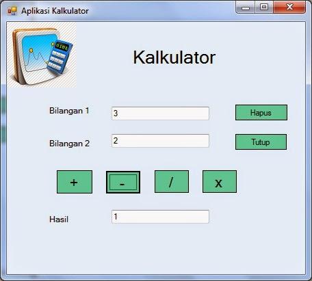 kurang - Tutorial Menciptakan Kalkulator Dengan Visual Studio 2012