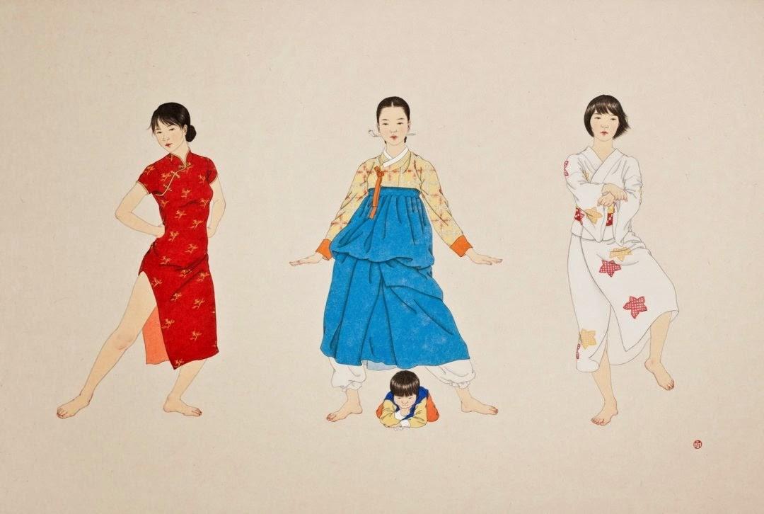 Korean painting sin sun mi Korean Artists enjoykorea Korean clothes korean artist
