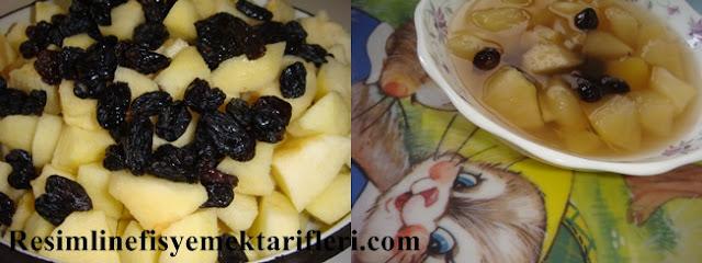 üzümlü elmalı komposto