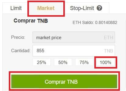 TNB Tutorial Compra Time New Bank Coin Token