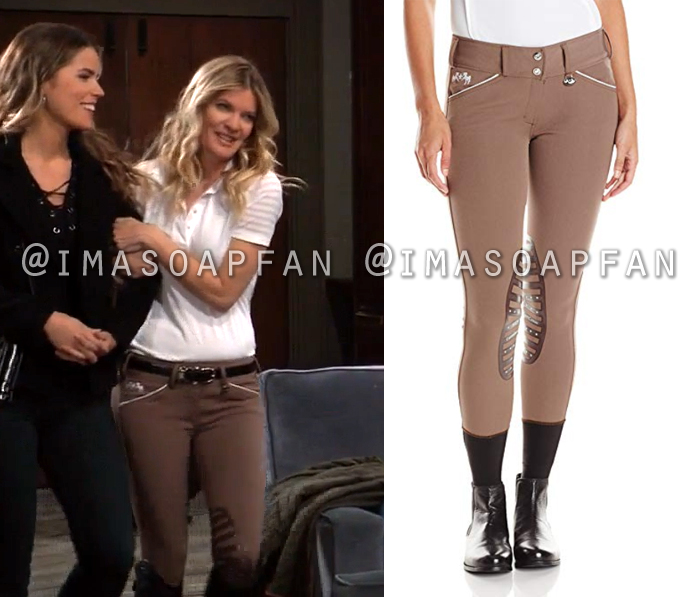 Nina Reeves, Michelle Stafford, Brown Riding Pants, General Hospital, GH