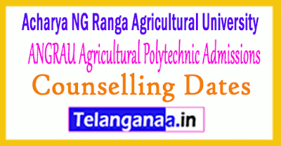 ANGRAU Agriculture Polytechnic Courses Admissions Counselling Dates