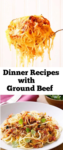 Dinner Recipes with Ground Beef #dinnerrecipes #groundbeef #beef #dinner #spaghetti