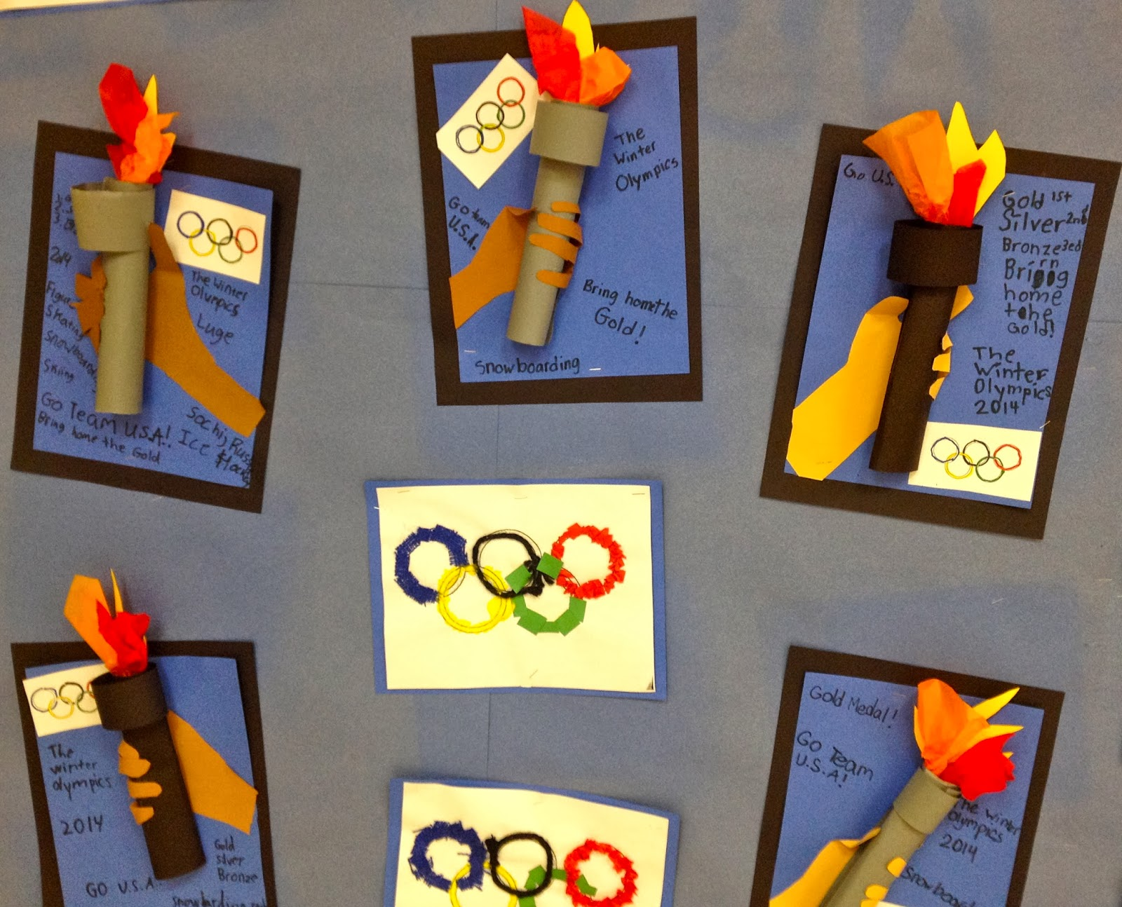 art with mr gian to 2nd grade olympic torch