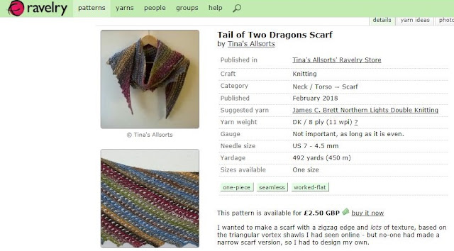 Tina's Allsorts, Tail of Two Dragons Scarf