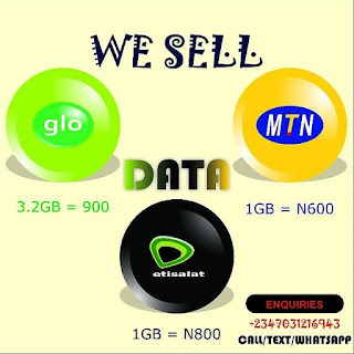 Data plans for all network with no stress and at affordable prices.