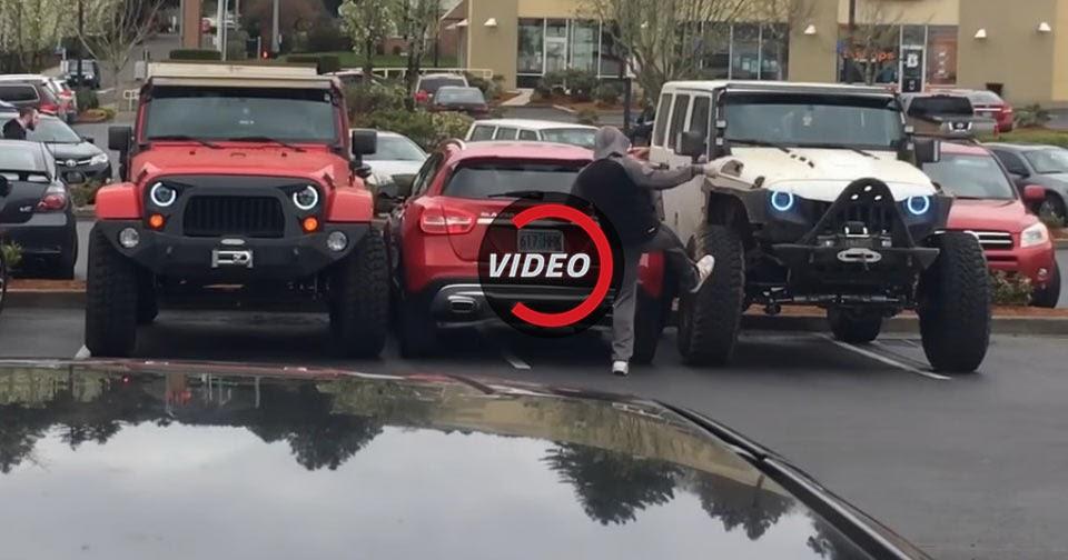 Pair Of Jeeps Delivering Revenge To Parking Hogger Smells ...