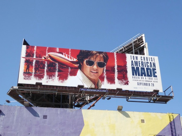 Tom Cruise American Made movie billboard