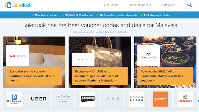 SALEDUCK - The BEST Voucher Codes & Deals Website In Malaysia