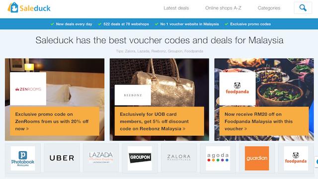 SALEDUCK - The BEST Voucher Codes & Deals Website In Malaysia