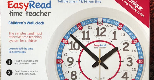 EasyRead Time Teacher 24-Hour Wall Clock