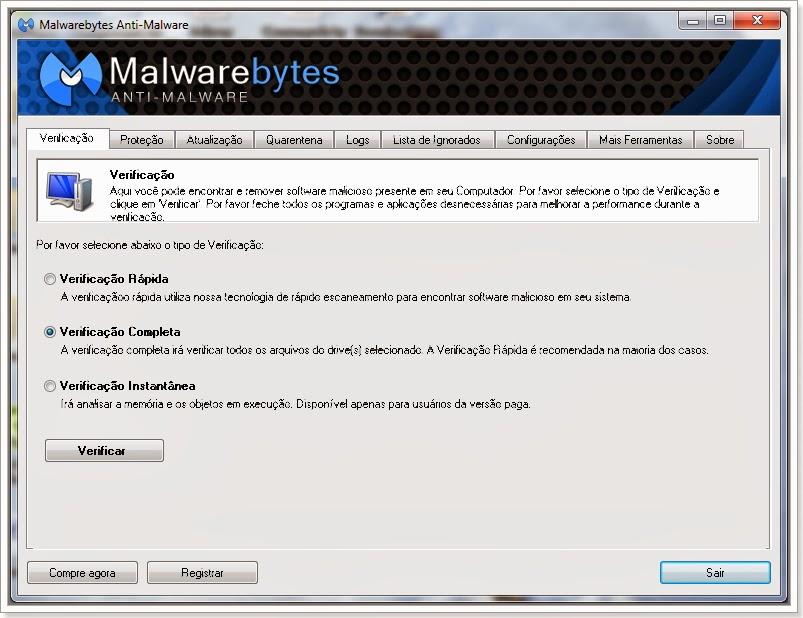 Malware Bytes faça um teste