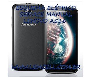 Esquema Elétrico Smartphone Celular Lenovo A516 Manual de Serviço Service Manual schematic Diagram Cell Phone Smartphone Lenovo A516