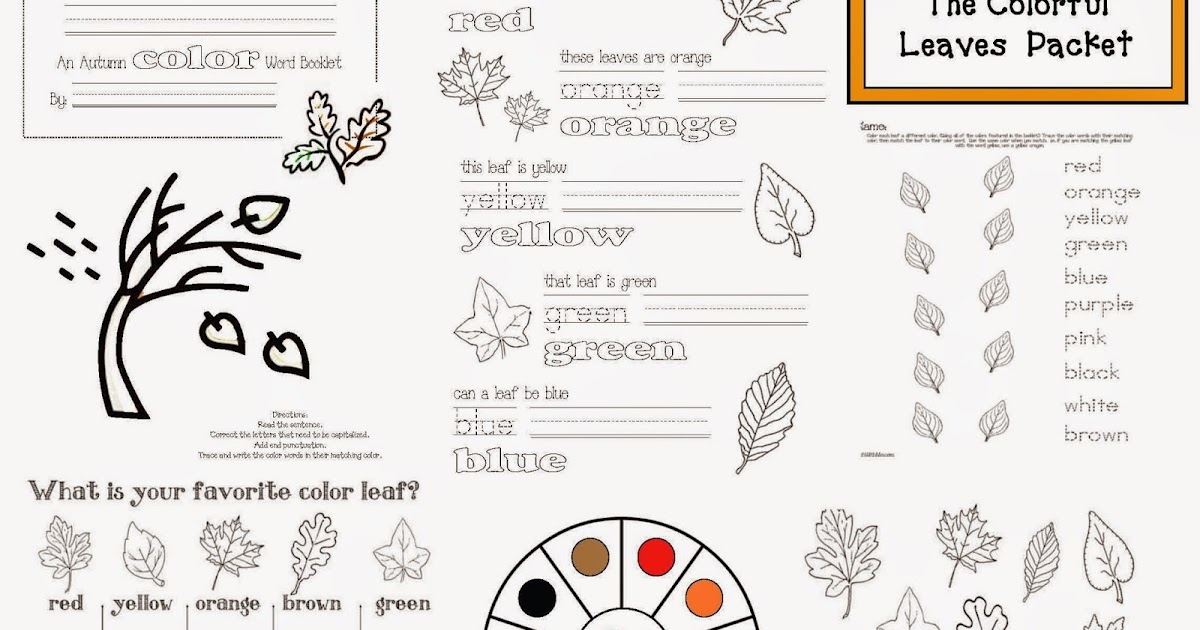 Classroom Freebies: Colorful Fall Leaves Packet