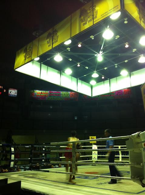 Una de las esquinas del ring