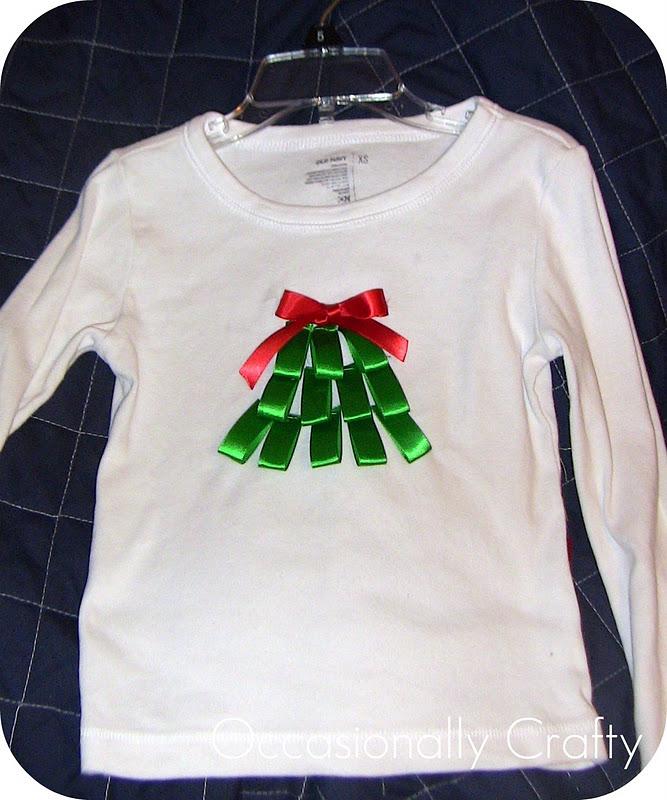 Ribbon Christmas Tree Shirt Occasionally Crafty Ribbon Christmas