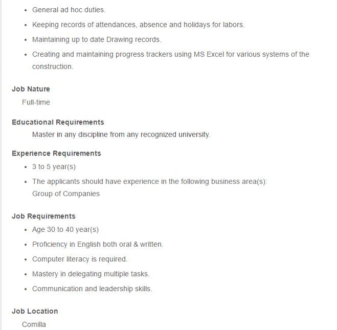 Nassa Denim - Post Title Document Controller - Job Opportunity