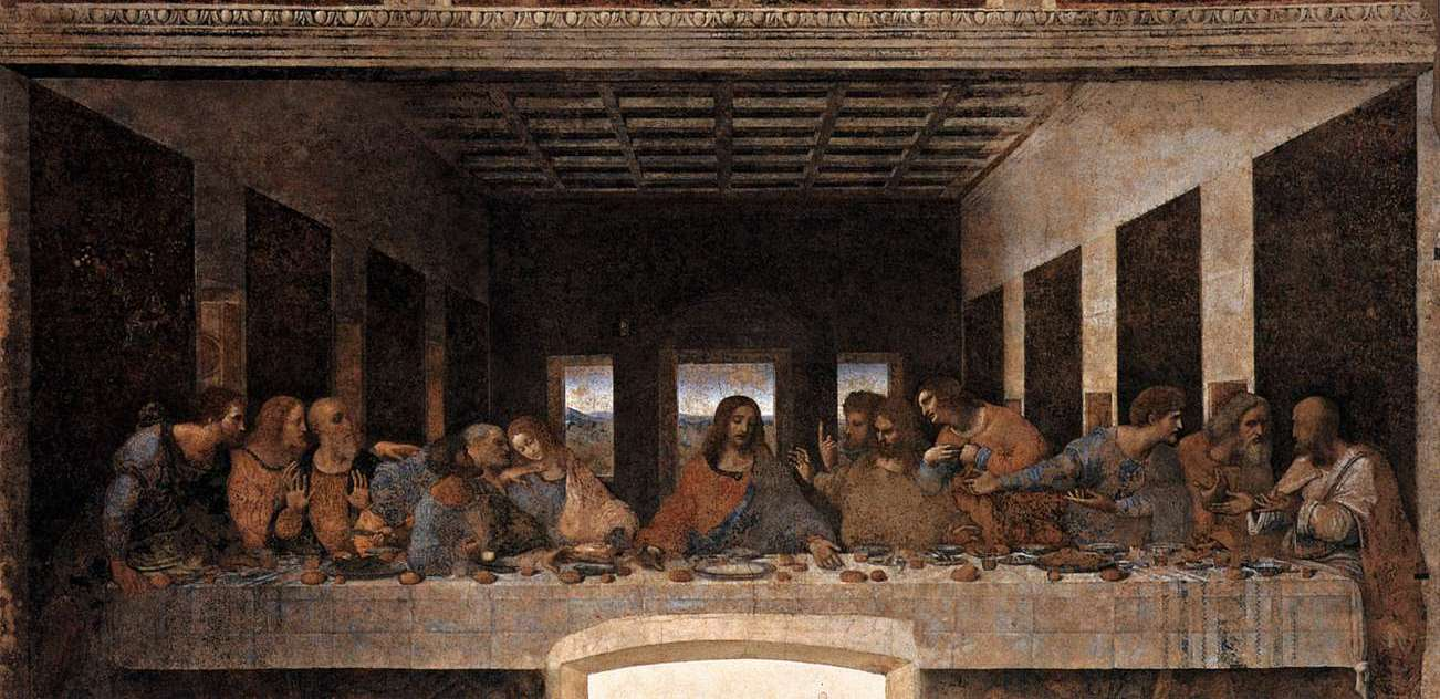 Books with the Bishop: In remembrance of me Da Vinci Last Supper High Resolution