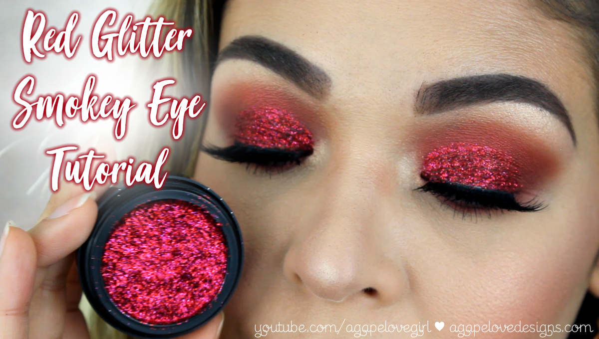 Agape love designs red glitter smokey eye tutorial valentines hey beauty babes i really hope you love this new look and tutorial as much as i do i have been wanting to create a look with this red chromalights glitter baditri Gallery
