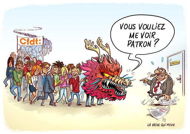 Illustration pour la CFDT pour leur stand à la foire expo de caen, les neufs dragons du mékong