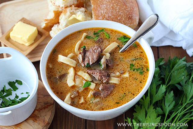 Easy Beef Stroganoff Soup Recipe