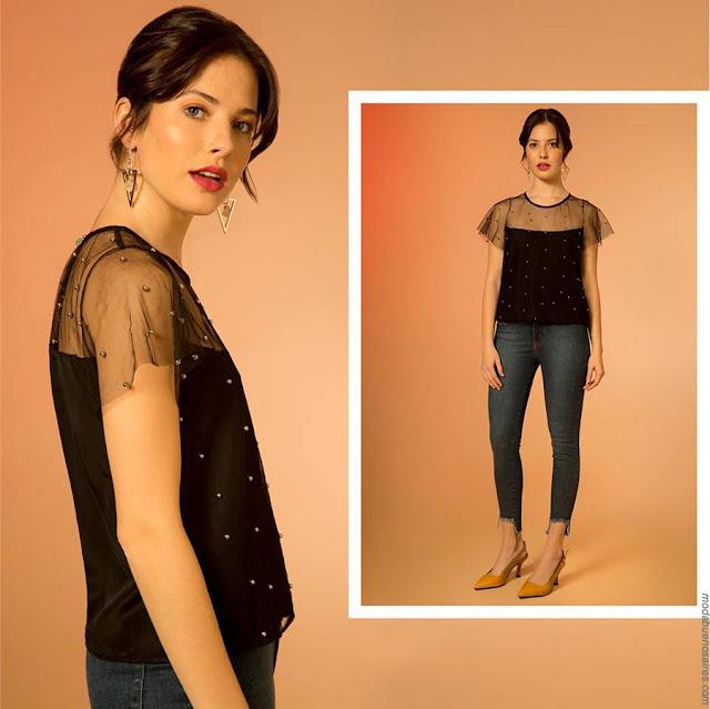Blusas primavera verano 2019 de fiesta moda verano 2019.