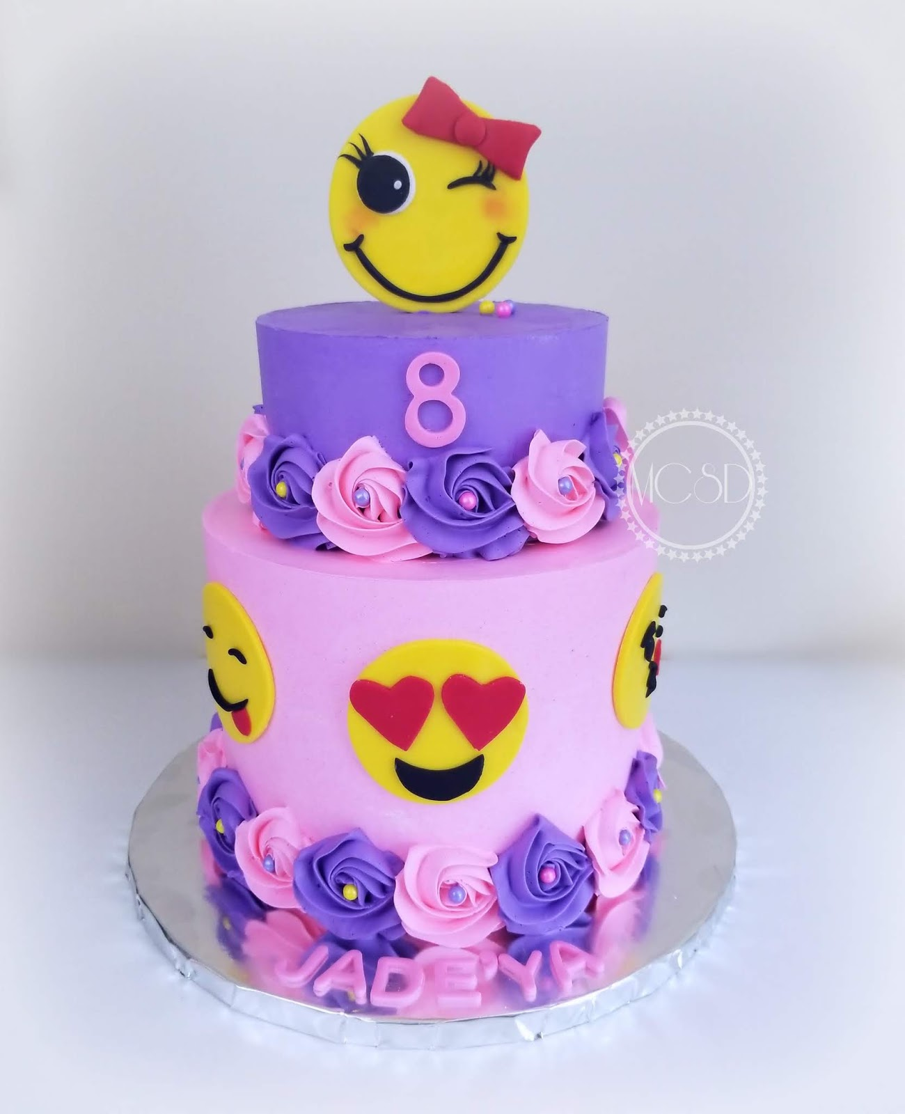 Emoji Birthday Cake Happy Jadeya Emojibirthdaycake Ismb Buttercreamsharpeedges