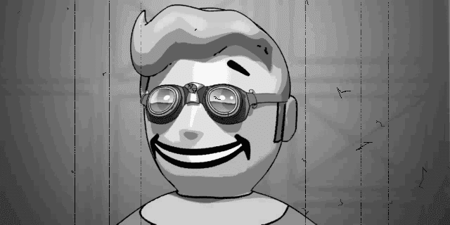 Fallout 2 Vault Boy wearing goggles