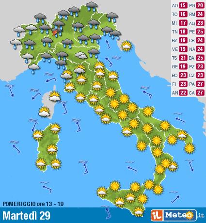 Cartina Meteorologica Dell Italia.Corriere Dell Alto Esino Vivere Genga Magazine Ecco La Carta Meteorologica Per Oggi